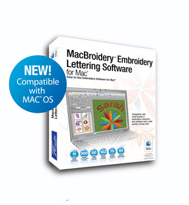 Brother SARES Apple Macintosh MacBroidery Lettering Monogram Software *6 Extras $20 Values! Reduced $50 More