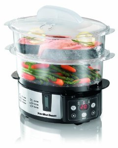 Hamilton Beach® 37537 Digital Two-Tier                               Food Steamer