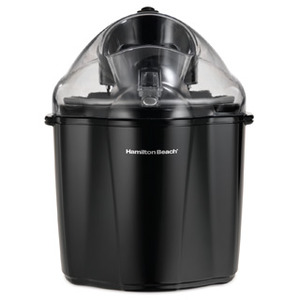 Hamilton Beach® 68321 1.5-Quart Capacity                               Ice Cream Maker, Black