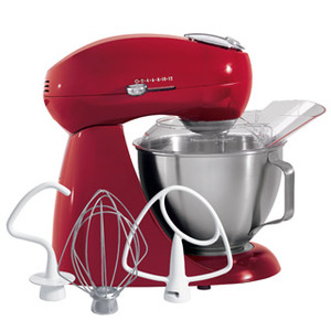 Hamilton Beach ® 63232 Eclectrics ® All-Metal Stand Mixer, Carmine Red