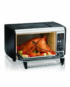 Hamilton Beach 31230 Set & Forget Toaster Oven With Convection Cooking, Temperature probe cooks meat to safe food temperatures without overcooking