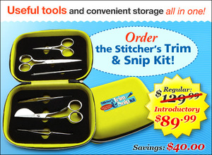Designs in Machine Embroidery Stitchers Trim & Snip Kit Useful Tools and Storage all in One!