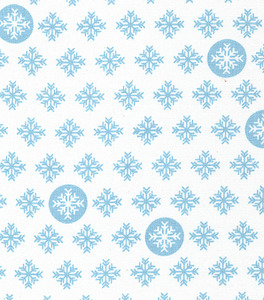 Fabric Finders 15 Yd Bolt 9.34 A Yd 1287 Blue Snowflakes Print 100 Percent Pima Cotton Fabric 60 inch