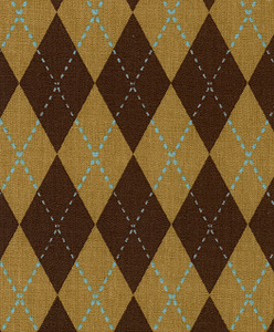 Fabric Finders 15 Yd Bolt 9.34 A Yd 1285 Brown/Tan/Blue Print 100 Percent Pima Cotton Fabric 60 inch