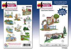 Amazing Designs 5002 Large Scenes Collection I Embroidery CD