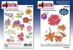 Amazing Designs / Great Notions 5003 Jumbo Flower Collection I Multi-Formatted CD