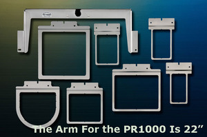 Fast Frames 102-022 7in1 Arm & 7 Tubular Hoops for Brother PR1000 PR1050X, Babylock ENT BNT