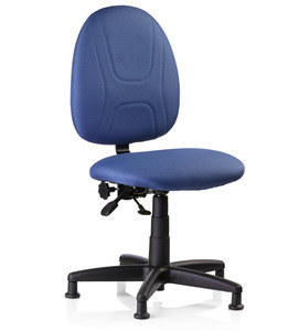 """Reliable, SewErgo2, Ergonomic, Sewing, Operator, Chair, Height Adjustment, for Home and Industrial Sewing Machines (with Power Stands) - Made in Canada, Reliable SewErgo Operators Non Roll Swivel Chair, 15-21"""" Adj Height, Full Lumbar Support, 5 Floor Glides, for Sewing Knitting Machine Stand Table Cabinet"""