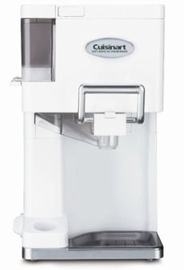 Cuisinart ICE-45 Ice Cream Maker, Swirl Soft Serve, 3 Mix It In Dispensers, 1 1/2 Quarts 20 Minutes, Double Insulated Freezer Bowl, Cone Holder, 3Yrs*