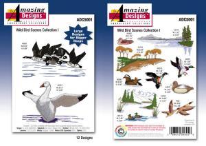 Amazing Designs ADC-5001 Wild Bird Scenes Embroidery CD