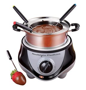 Nostalgia Electrics FPR200 Fondue Pot, Stainless Steel, provides a fun and stylish way to serve hors d'oeuvres, entrees