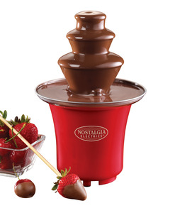 Nostalgia Electrics CFF300 Mini 8oz Chocolate Fondue Auger Fountain