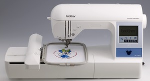 "Brother, PE780D, Demo, +5 Hoops, 5x7"", 5x12"", Embroidery Machine, 14 Extras, $1000+ Values! USB Stick, 170 Designs, 52 Disney, 6 Fonts, 120 Borders, Threader,  Trim, 650SPM"