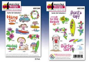 Amazing Designs ADC1349 Surfer Girl Embroidery Disk
