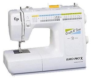 Euro Pro EP7500XH Craft-n-Sew 42-Stitch Function Sewing Machine with 12 Metal Feet