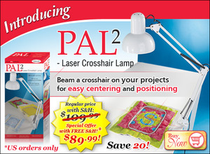 38892: PAL2 Laser Crosshair Beam Lamp, Embroidery Placement Centering Alignment