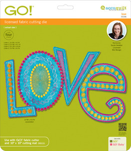 AccuQuilt GO! 55306, Love Die, by Sarah Vedeler, for Fabric Cutter