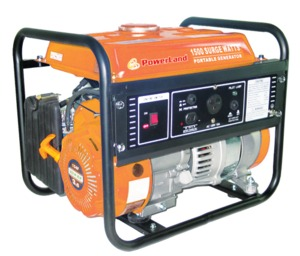 Powerland PD2000 Gas Generator, 1500W, 120V, 60Hz, 2.4hp, Up To 3hrs Runtime, Quiet 67dB, Great For Camping, RV or Tailgating