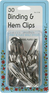 Collins W-136  Binding & Hem Clips 30 Clips