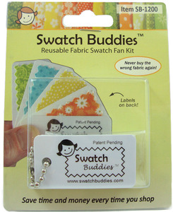 Swatch Buddies SB-1200 Fabric Fan, 12 pack
