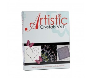 Artistic Crystals Software Rhinestones Designs Embellishment, Machine Embroidery & Applique, AutoFill, Styles, Sizes, Graphics, Outlines, Clipart