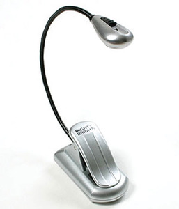 Mighty Bright XtraFlex MB60432 LED Craft Light Silver Wide Opening Clip, Flexible Gooseneck, Battery Powered