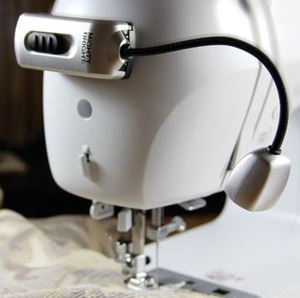"Mighty Bright,  Sewing Machine, LED, Light, Silver, Mighty Bright MB64602, Cordless ,LED Lamp, Light Attachment, Sewing, Embroidery, Serger, Blindstitch, Machines, Adhesive Base, Battery Powered, 5"" Bendable Neck"