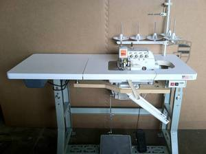 Rex 516M2-55 RB 3Thread Overlock +2Th Safety Chain Stitch =5Th Serger (Siruba757KD) Machine & Power Stand 7500RPM, 6mm Foot Lift, 10mmW, .7:2Diff.Feed