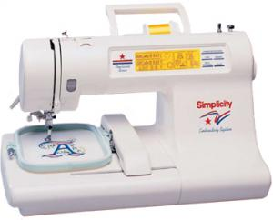 "Simplicity SE 3 Best Buy Embroidery-Only Machine  SE3, 119 Designs,  10 Alphabets, 4"" Letters, 3 Hoops, Video, - Factory Serviced 90 Day Warranty"