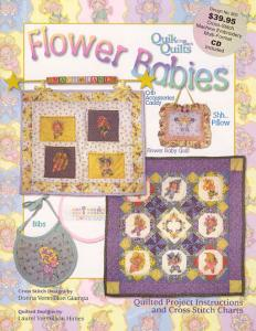 Flower Babies SA3671 Cross-Stitch Machine Embroidery Multi-Foramt CD & Book