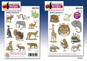 Amazing Designs / Great Notions 1378 Wildlife Collection III Embroidery Multi-Formatted CD