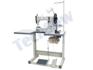 "Complete, Ready, Sew, Tech, sew, 3650HD, Leather, Harness, Stitcher, Industrial, Sewing, Machine, Servo, Motor, U, Table, 10.5"", Cylinder, Arm, 1/2"", Foot, Lift, Roller, Guide, 7mm, Length"