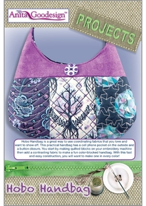 Anita Goodesign PROJ32 Hobo Handbag Multi-format Embroidery Design Pack on CD