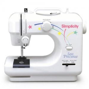 Simplicity Sew Precious SWSP2 Best Buy Zig Zag Compact/Childrens 3 LB Sewing Machine, AC Adaptor, Foot control & FREE Tote Bag to Sew - REDUCED $10