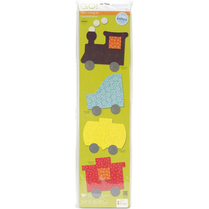 AccuQuilt Go! 55367 Dies Train Shapes for All Go Fabric Cutters