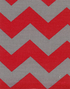 Fabric Finders 15 Yd Bolt 9.33 A Yd Twill 1304 Red/Grey Chevron 100% Pima Cotton Fabric 60 inch
