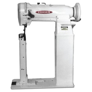 "Consew 289RB-HLP High Speed, Extra High 17.5"" Post Bed, Drop Feed, Needle Feed, Walking Foot, Alternating Presser Feet, Lockstitch Machine & Stand"