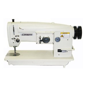 "Consew 199RB-2A-1 Single Needle, Needle Feed, Straight & 3 Step 2 Stitch 9.5mm Zigzag Sewing Machine, Power Stand 2000SPM, 10""Arm, 6mm Foot Lift, 5SPI"