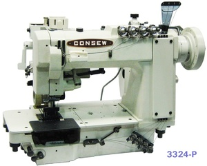 Consew, 3324, 4-Needle, High, Speed, Double, Chainstitch, Machine, Optional, Stand