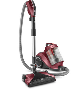 In Stock Hoover SH40055 WindTunnel Multi Cyclonic HEPA Bagless Canister Vacuum Cleaner, Swivel Neck, Power Nozzle, Brushroll On Off, 25' Cord Rewind, Tools