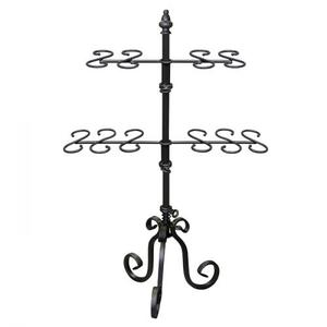 PGM Pro 913B-B Metal Necklace Display Rack, 2 tier, Revolving, Heavy Base, Height Adjustable