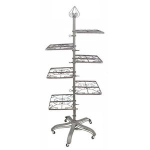 PGM Pro 912A Garment Rack, 6 Shelves 3 on each side, Heavy Base with 5 Rolling Casters, Foot Pedal Height Adjustable
