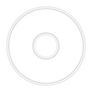 Fil-Tec 13317 Class 15 Polyester White Prewound Bobbin 8 Bobbin Tube: 145 yds/Bobbin