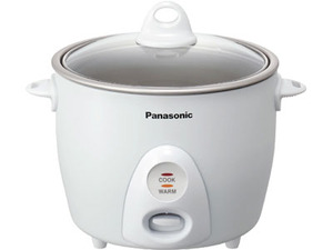 Panasonic SR-G10G 5-Cup Rice Cooker WHITE, 1 Step Auto Cooking, Auto Shut Off, 4-Hour Keep Warm, Non Stick Pan, Tempered Glass Lid, Measuring Cup