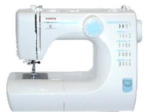 Toyota SE06 20-Stitch, 1-Step Buttonhole Sewing Machine, Video and RCT10 Serge Cutter Attachment