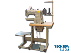 Techsew 2150 Cylinder Arm Bed Walking Foot 8mm ZIGZAG Ind Sewing Machine, Power Stand 1700S, 2,3,4*Point ZZ Stitches, 13mm Foot Lift, 5mmSL, M Bobbins