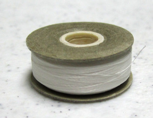 AE American Efird Box 144 Prewound Rotary L Bobbins Cardboard Sides, 100% Continuous Filament Poly WHITE 30001 Thread 60wt, 132Yards per Bobbin MEXICO