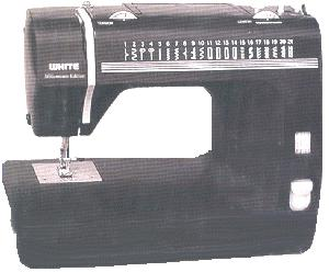 White SM2000 20-Stitch Millenium Edition Sewing Machine in Black with Video - Factory Serviced