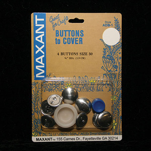 Maxant ADB-1-30 Buttons to Cover Size 30