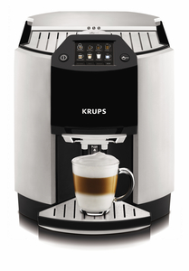 Krups EA9000 Black & Stainless Barista 1 Touch Cappuccino, Full Auto Espresso Coffee Maker Machine EUROPE, Frothing Steam Nozzle, Rinse & Clean, 25Lb